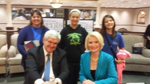 Unexpected meeting with Newt Gingrich